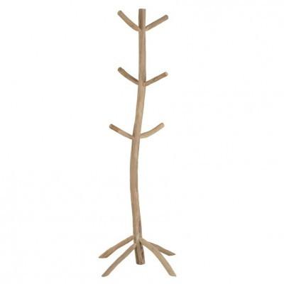 Cabide de pé em madeira de teca, 53x183