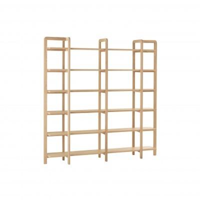 Estante Scandi, madeira de pinho, 200x35x201