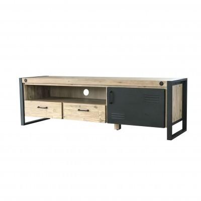 Móvel TV Boston, madeira de acácia/metal, 165x45x50
