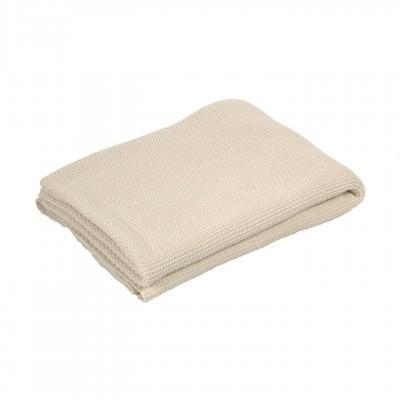 Manta Saya, algodão, bege, 170x130