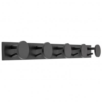 Cabide de parede, madeira de seringueira, preto, 90x9