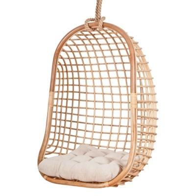 Cadeira suspensa Alis, bambú natural, 70x118