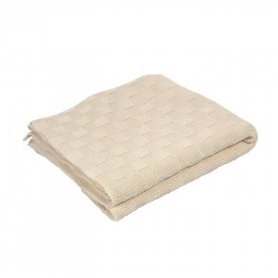 Manta Saya c/quadrados, algodão, bege, 170x130