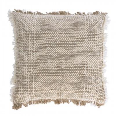 Capa de almofada Amil, c/franjas, bege, 60x60