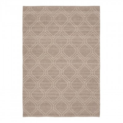Tapete Syba, lã/nylon, marron, 230x160