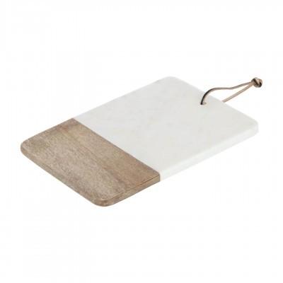 Tábua de cozinha Danel, madeira/mármore, 30x20