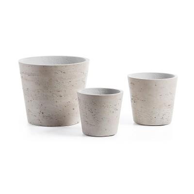 Vasos Lowe, poli-cimento, (Conj.3)