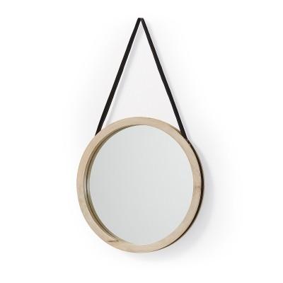 Espelho Gui, madeira manga, Ø40cm
