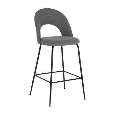 Cadeira de bar Mahlia, estofada, 54x53x76