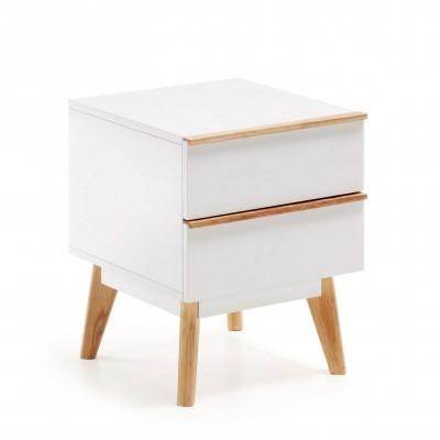 Mesa de cabeceira Melon, madeira de carvalho/MDF lacado, 40x50