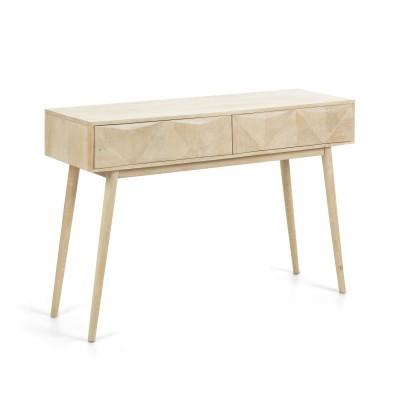 Consola Sara, madeira de manga natural, 120x40x80