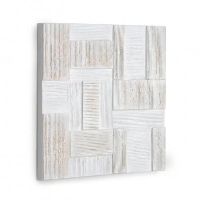 Quadro de parede Alvi, branco/dourado, 50x50