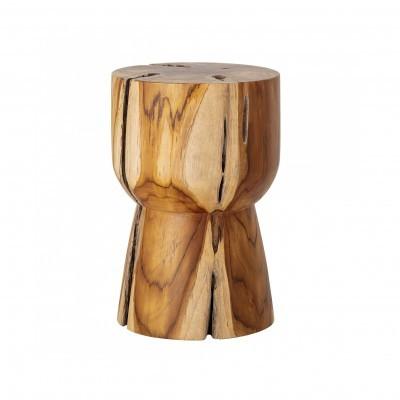 Mesa de apoio Gaia, madeira de teca natural, Ø30x45