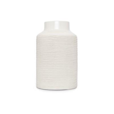 Jarra com texturas, branco, Ø14x24
