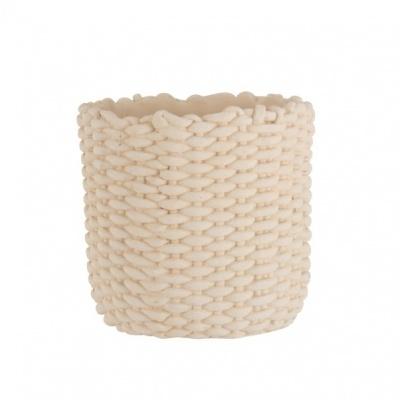 Vaso Rope, cimento, Bege, Ø30x28