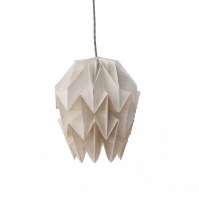 Abajur de papel Origâmi, modelo Amencer, mármore