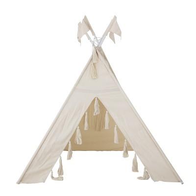 Cabana de índio, infantil, algodão, 110x110x140