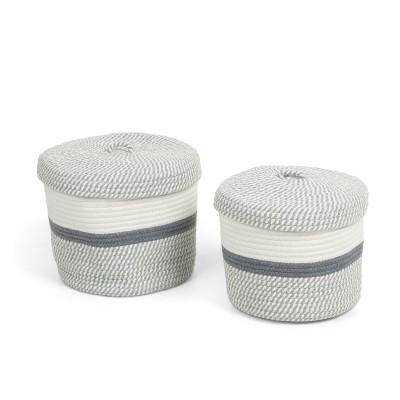 Cestas Katia, corda de algodão, multicolor, (Conj.2)
