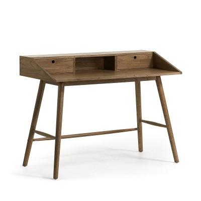 Secretária Nika, madeira de Mindi natural, 120x60x90