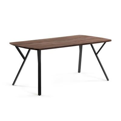 Mesa de jantar Babel, madeira de acácia/mogno, 160x90