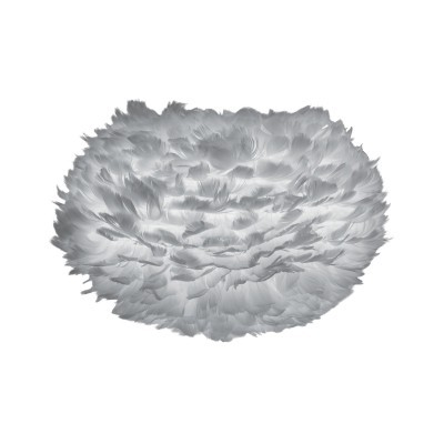 Candeeiro de tecto Eos, penas de ganso, cinza