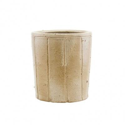 Vaso Julian, cerâmica, bege, Ø18x20