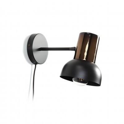 Aplique Nina, metal, preto/bronze