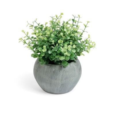 Eucaliptus artificial, vaso em papel machê, Ø20x20