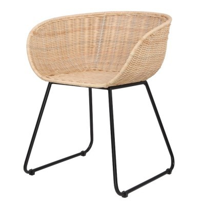 Cadeira Junno, rattan natural, 56x61x76