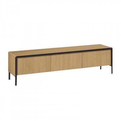 Móvel TV Nadya, madeira de carvalho, 180x43x50