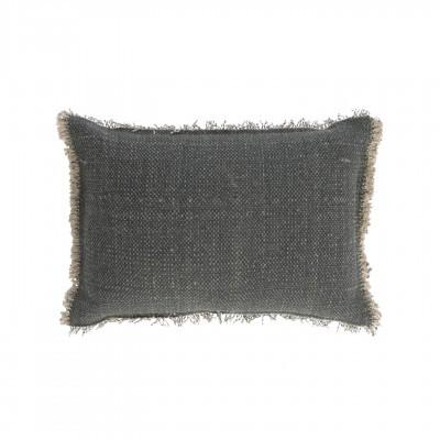 Capa de almofada Camil, cinza escuro, 50x30