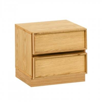 Mesa de cabeceira Taia, madeira de carvalho, 45x44