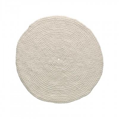 Tapete Poopy, lã natural, branco, Ø100