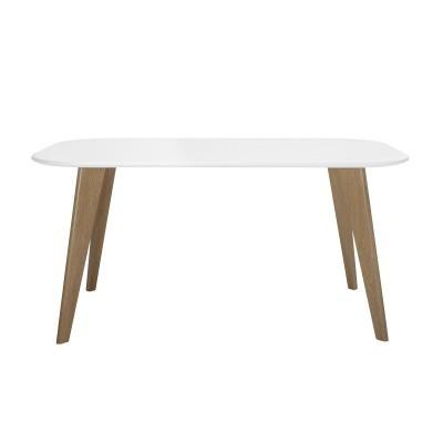 Mesa de jantar Mille, MDF lacado/metal, 150x90