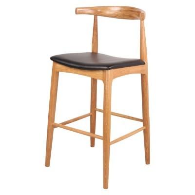 Cadeira de bar Hans, madeira faia, 55x50x76