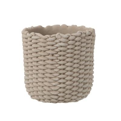 Vaso Rope, cimento, cinza, Ø30x28