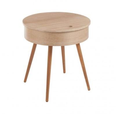 Mesa de apoio Jolipa, c/tampa, madeira faia, Ø53x54