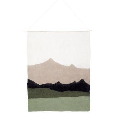 Decoração de parede em lã de feltro, multicolor, 70x90