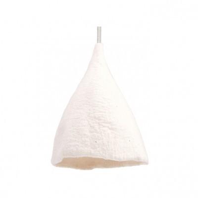 Candeeiro de tecto reversível, lã de feltro, branco, Ø27x40