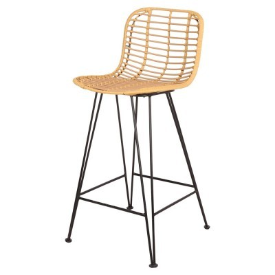 Cadeira de bar Miniki, rattan sintético