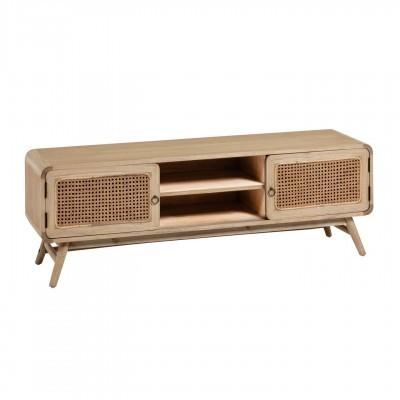 Móvel TV Kalú, madeira de mindi/rattan, 150x50