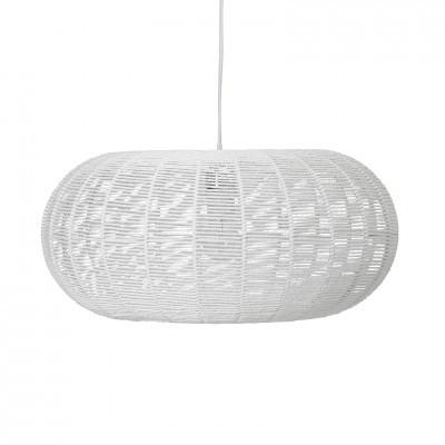 Candeeiro de tecto Snow, papel/metal, branco, Ø50x23