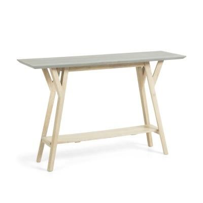 Consola em madeira de mangueira natural, 125x40x80