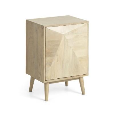 Mesa de cabeceira Sara, madeira de manga natural, 60x34x42