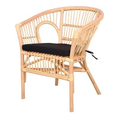 Cadeira Kelak, c/almofada, bambu natural