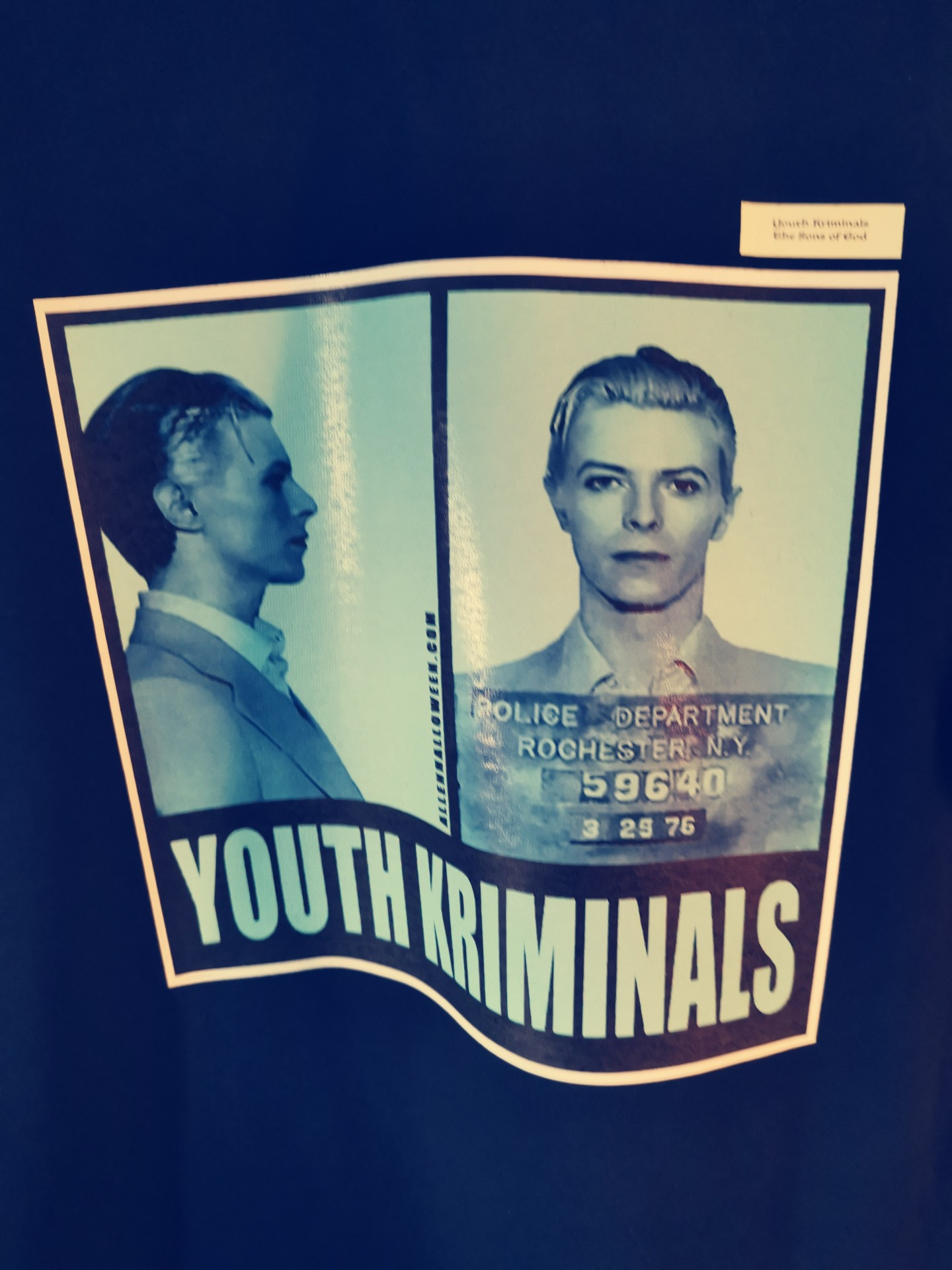 T-Shirt Youth Kriminals (David Bowie)