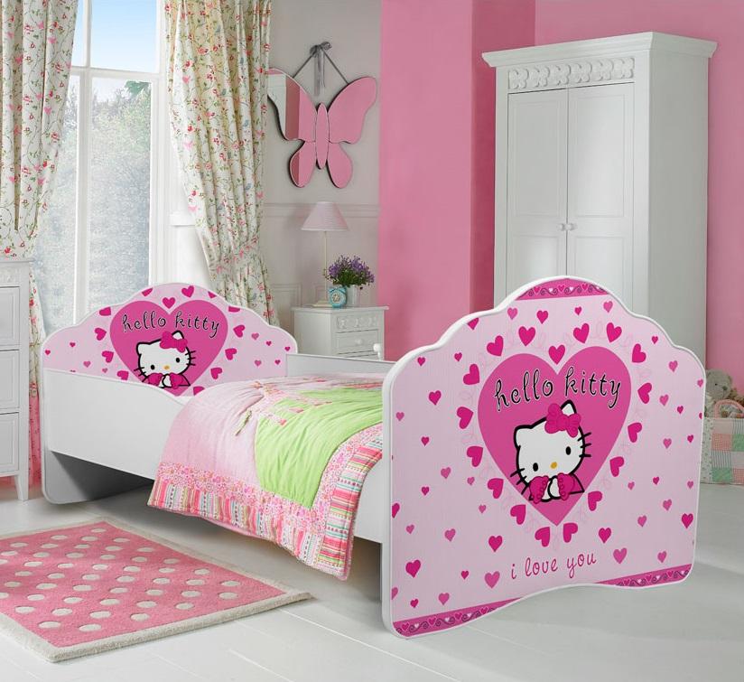 Cama de criança Hello Kitty 140x70cm