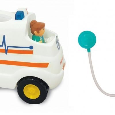 Ambulância com atividade sonora