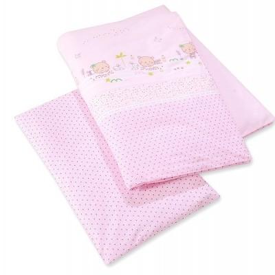 Berço Sweet bears pink 120x60cm com texteis incluidos