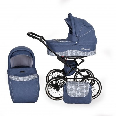 Carrinho de bébé Romantic Exclusive Duo Blue